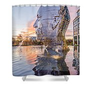 Metalmorphosis Statue Charlotte Nc Shower Curtain