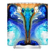 Metamorphosis - Abstract Art By Sharon Cummings Shower Curtain