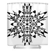 Metatron Cube A Version Shower Curtain