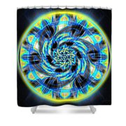 Metatron Swirl Shower Curtain by Derek Gedney