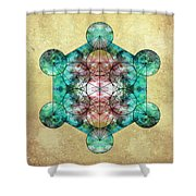 Metatron's Cube Shower Curtain by Filippo B