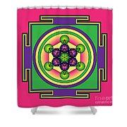 Metatron's Cube Mandala Shower Curtain