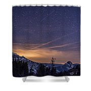Night Skies Over Half Dome Shower Curtain