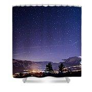 Mammoth Mountain At Night Shower Curtain