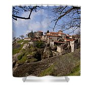 Meteora Monastary   #0679 Shower Curtain