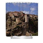 Meteora Monastary   #9793 Shower Curtain