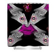 Meteoroid Creature  Coming From Comets And Androids Pop Art Shower Curtain by Pepita Selles