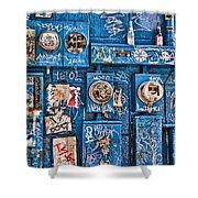 Meter Graffiti New Orleans Style Shower Curtain