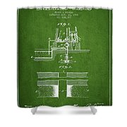 Method Of Drilling Wells Patent From 1906 - Green Shower Curtain