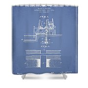 Method Of Drilling Wells Patent From 1906 - Light Blue Shower Curtain