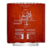 Method Of Drilling Wells Patent From 1906 - Red Shower Curtain