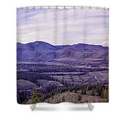 Methow River Valley Via Sun Mtn Lodge Shower Curtain by Omaste Witkowski