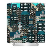 Metropolis Eight Shower Curtain
