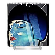 Metropolis Shower Curtain by Mo T