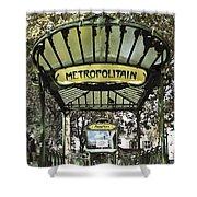 Metropolitain Entrance Paris Shower Curtain