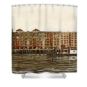 Metropolitan Wharf Wapping London About 1980 Shower Curtain
