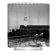 Mevagissey Lighthouse Shower Curtain