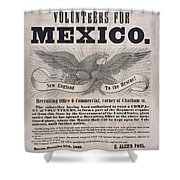 Mexican American War Flyer Shower Curtain