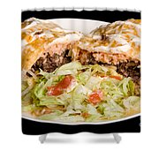 Mexican Burrito Plate 2 Shower Curtain