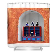 Mexican Facades Shower Curtain
