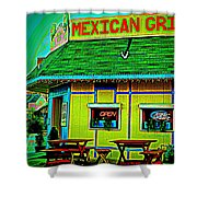 Mexican Grill Shower Curtain by Chris Berry