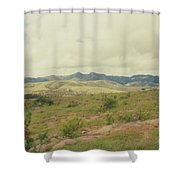 Mexican Mountains Shower Curtain