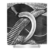 Mexican Revolution Guitar, Sickle Shower Curtain
