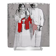 Mexican Revolutionary  Couple In Photo Studio No Location  C.1914-2014 Shower Curtain