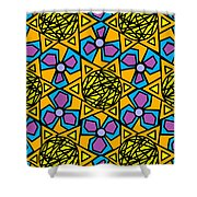 Mexican Sun / African Violet Shower Curtain