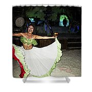 Mexican Traditional Dancer Shower Curtain