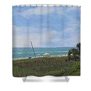 Mexico Beach Summer Shower Curtain