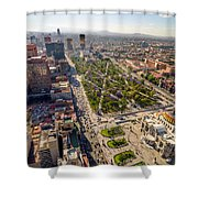 Mexico City Aerial View Shower Curtain by Jess Kraft