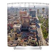 Mexico City Cityscape Shower Curtain by Jess Kraft