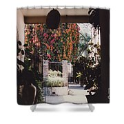 Mexico Garden Patio By Tom Ray Shower Curtain