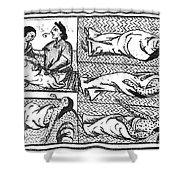 Mexico: Smallpox Epidemic Shower Curtain