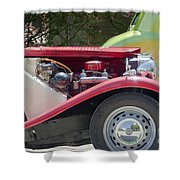 Mg Engine Shower Curtain