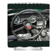 Mg Midget Instrument Panel Shower Curtain