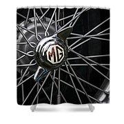 Mg Wheel Shower Curtain