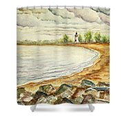 Mi Up Lighthouse Shower Curtain