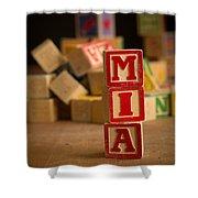 Mia - Alphabet Blocks Shower Curtain