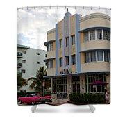 Miami Art Deco Shower Curtain