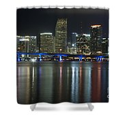 Miami At Night Shower Curtain