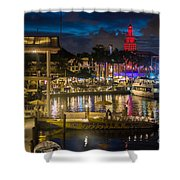 Miami Bayside And Freedom Tower Shower Curtain