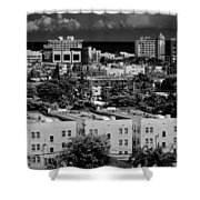 Miami Beach - 0156bw Shower Curtain