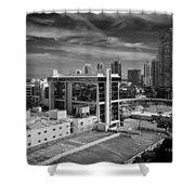 Miami Beach-0152bw Shower Curtain