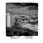 Miami Beach - 0153bw Shower Curtain