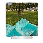 Miami Beach Colors Shower Curtain