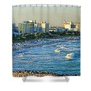 Miami Beach Sunset Shower Curtain