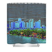 Miami Color Shower Curtain