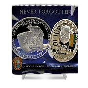 Miami Dade Police Memorial Shower Curtain